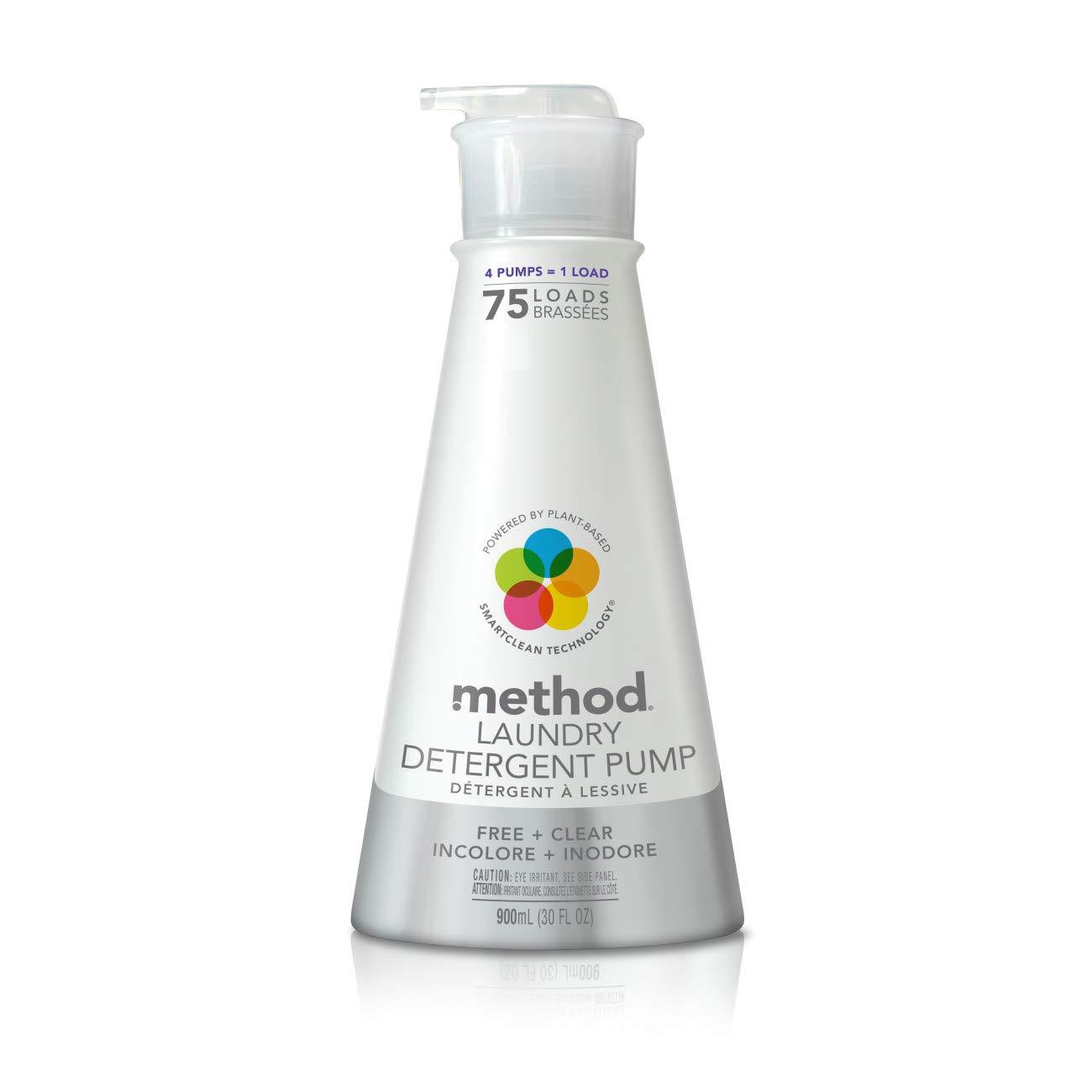 Method Laundry Detergent Pump, Free + Clear, 30 Fl Oz, 75 Loads
