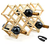 Elife Wood 10-Bottle Wine Rack with One Foil Cutter Remover (Kitchen)