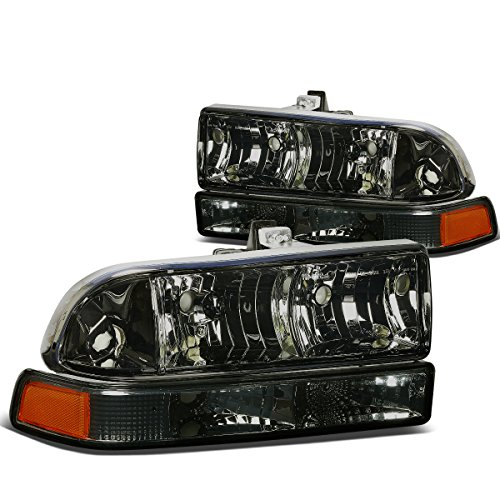DNA Motoring HL-OH-S10984P-SM-AM Headlight Assembly, Driver and Passenger - Assembly Headlight Blazer Lamp