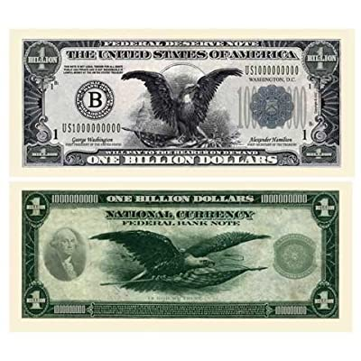 Set of 10 Bills-Classic Billion Dollar Bill-AAC: Toys & Games