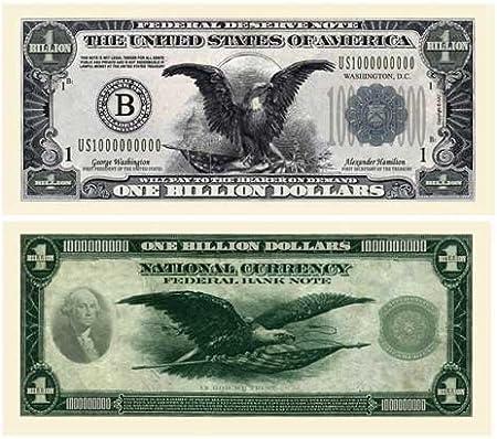 Lot of 100 BILLS Black Eagle with Paul Revere Trillion Dollar Bill