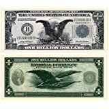 Billion Dollar Federal Reserve Note With Bill Protector - Novelty Money
