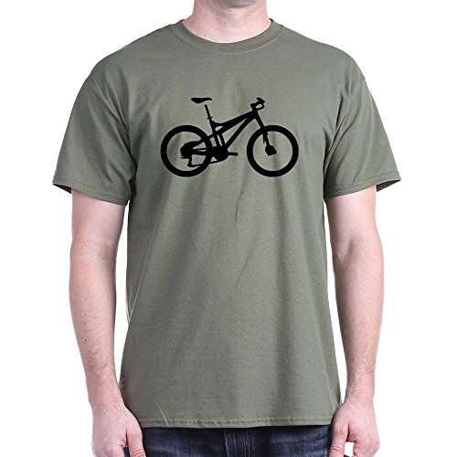 CafePress - Black Mountain Bike Bicycle - Classic Cotton T-Shirt 21887998d463
