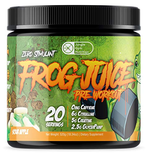 Frog Juice - Original Caffeine Free Non Stimulant Pre Workout Energy Drink Powder, 20 Servings
