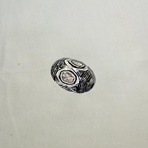 925 Sterling Silver Diamond Finding Spacer Bead Wholesale Handmade Jewelry by Jaipur Handmade Jewelry