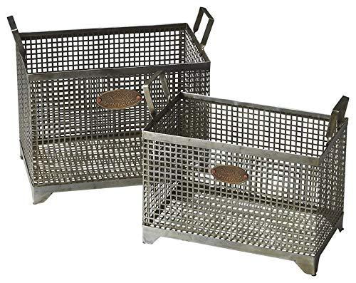 Butler Hors D'oeuvres Gray Rectangular Iron Rowley Iron Storage Basket -