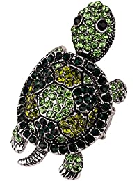 Jewelry Women's Crystal Turtle Stretch Rings shaky head legs