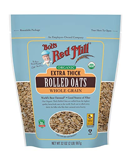(Bob's Red Mill Organic Extra Thick Rolled Oats, 32 Oz)