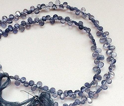 1 Strang Natur Iolith Perlen, Iolith Halskette, Iolith Steinen 5 x 7 mm, 20,3 cm