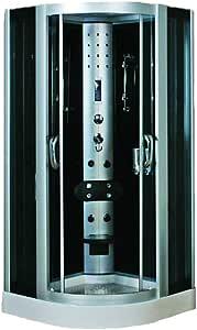 Ducha hidromasaje 90 x 90 x 225 cm esquina jacuzzi masaje ducha accesorios baño panel de control de computadora con radio FM multifuncional ducha de mano 24 meses garantía Home SPA: Amazon.es: