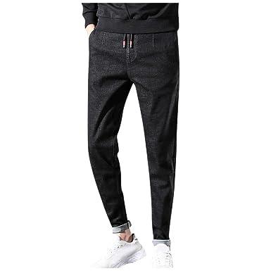 Jeans Hombre Slim Fit, Hombres Casual Sólido Recto Denim Delgado ...