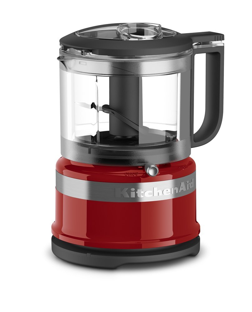 KitchenAid KFC3516ER 3.5 Cup Mini Food Processor, Empire Red (Certified Refurbished)