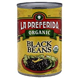 La Preferida Organic Black Beans, 15-Ounce (Pack of 12)