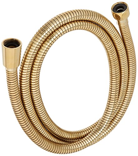 Delta Faucet U495D-PB60-PK Stretchable Metal Hose, Polished (Polished Brass Handheld Showerhead)