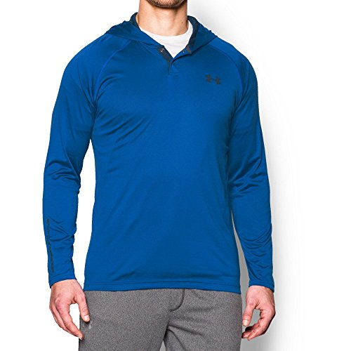Under Armour Men's Tech Popover Hoodie, Ultra Blue/Stealth Gray, Large