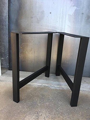 H Shape Metal Legs, Set Of 2, Metal Table Legs, Bench Legs,