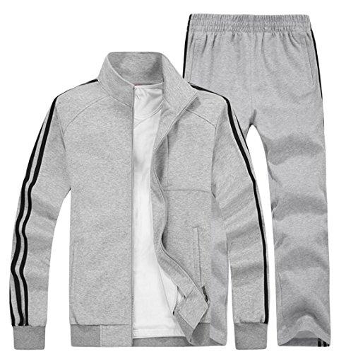 GAGA Mens Winter Sports Jogging Tracksuits Grey XL