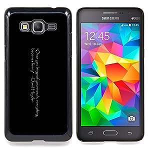 Queen Pattern - FOR Samsung Galaxy Grand Prime G530H G5308 - Funny Joke Quote Morals Let Go Positive Life - Cubierta del caso de impacto con el patr???¡¯???€????€?