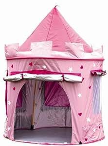 MaMaMeMo - Tienda plegable con forma de castillo de princesa (para uso interior y exterior)