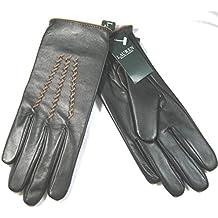 Ralph Lauren Women's Designer Dark Brown Leather Gloves Size Medium