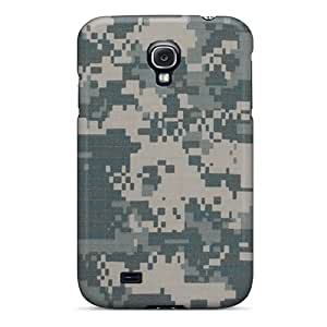 Shockproof Hard Phone Covers For Samsung Galaxy S4 (zCL12969IBoY) Customized High-definition Camo Army Digital Image