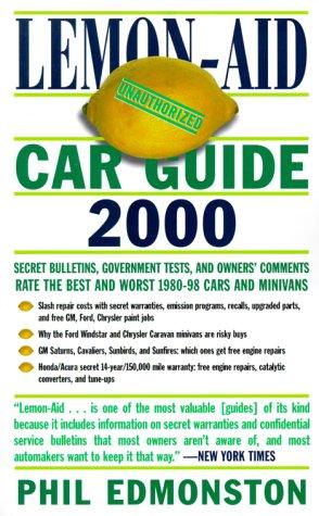 Lemon Aid Car Guide 2000 (Lemon Aid Used Cars)