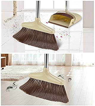 Taran Handle Dustpan and Brush for Sweeping & Cleaning Dust Pan and Broom Handled