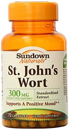 Wort normalisé de Sundown Naturals St John 300mg Capsules - 72ct, 0,16 Bouteilles (pack de 2)