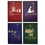 Health & Personal Care : Image Arts Religious Boxed Christmas Cards Assortment (4 Designs, 24 Christmas Cards with Envelopes)