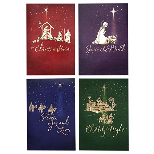Image Arts Religious Boxed Christmas Cards Assortment (4 Designs, 24 Christmas Cards with Envelopes) (Lds Meaning Christmas Of)