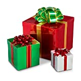 Stackable Gift Box Outdoor Christmas Decoration - Set of 3
