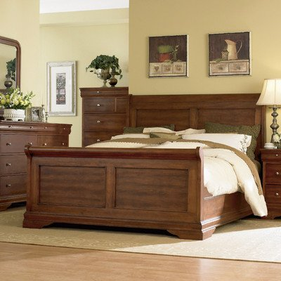 Paris Panel Bed - Mastercraft Collections Solid Wood Paris Classic Panel Bed, California King