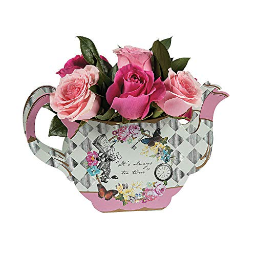 (Fun Express - Truly Alice Teapot Vase for Party - Party Supplies - Licensed Tableware - Misc Licensed Tableware - Party - 1 Piece)