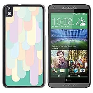 Cubierta protectora del caso de Shell Plástico || HTC DESIRE 816 || Pattern Clean Bright Green @XPTECH