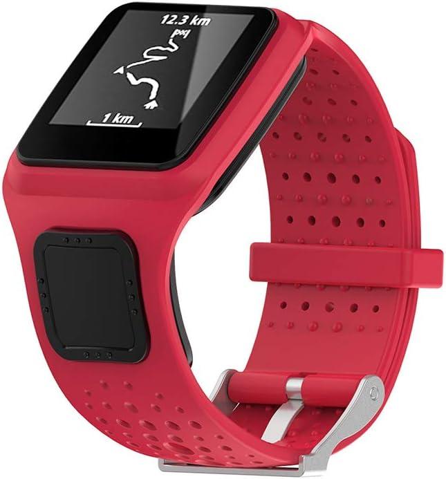 Ixkbiced Banda para Tomtom 1 Multi-Sport GPS HRM CSS Am Cardio Runner Reloj Silicona Correa Suave Pulsera Pulsera