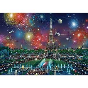 Schmidt Puzzle 1000 Pices Feu Dartifice Sur La Tour Eiffel