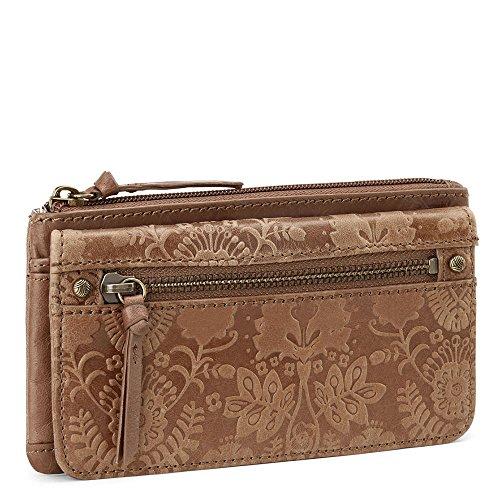 Sanibel Flap Wallet Wallet, Tobacco Floral Emboss, One Size