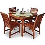 Hardwood Dining Table and Chairs 5 piece