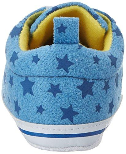 Playshoes Canvas Turnschuhe Sterne, Mocasines para Bebés Blau (Hellblau/Marine)