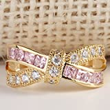 Sumanee Yellow Gold Filled Gemstone Wedding Engagement Band Ring Womens Jewelry Gift 3 (8)