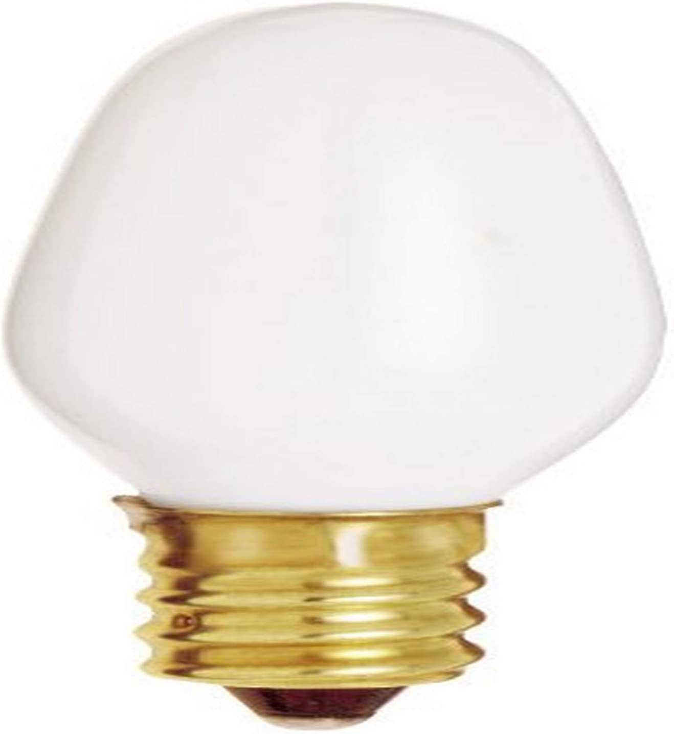 3 Pack Satco S3791 7 Watt C7 Clear Night Light Bulbs with Candle Base 6 Total 2 per Card