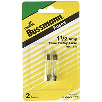 Bussmann BP/MDL-1-1/2 MDL Series 1/4˝ x 1-1/4˝ Time-Delay, Glass Tube Fuse - 250 Volts: Automotive