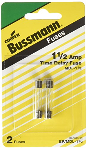 Mdl Slow Blow Fuses (Bussmann BP/MDL-1-1/2 MDL Series Glass Tube Fuse (250 Volts, 1/4˝ x 1-1/4˝ Time-Delay))