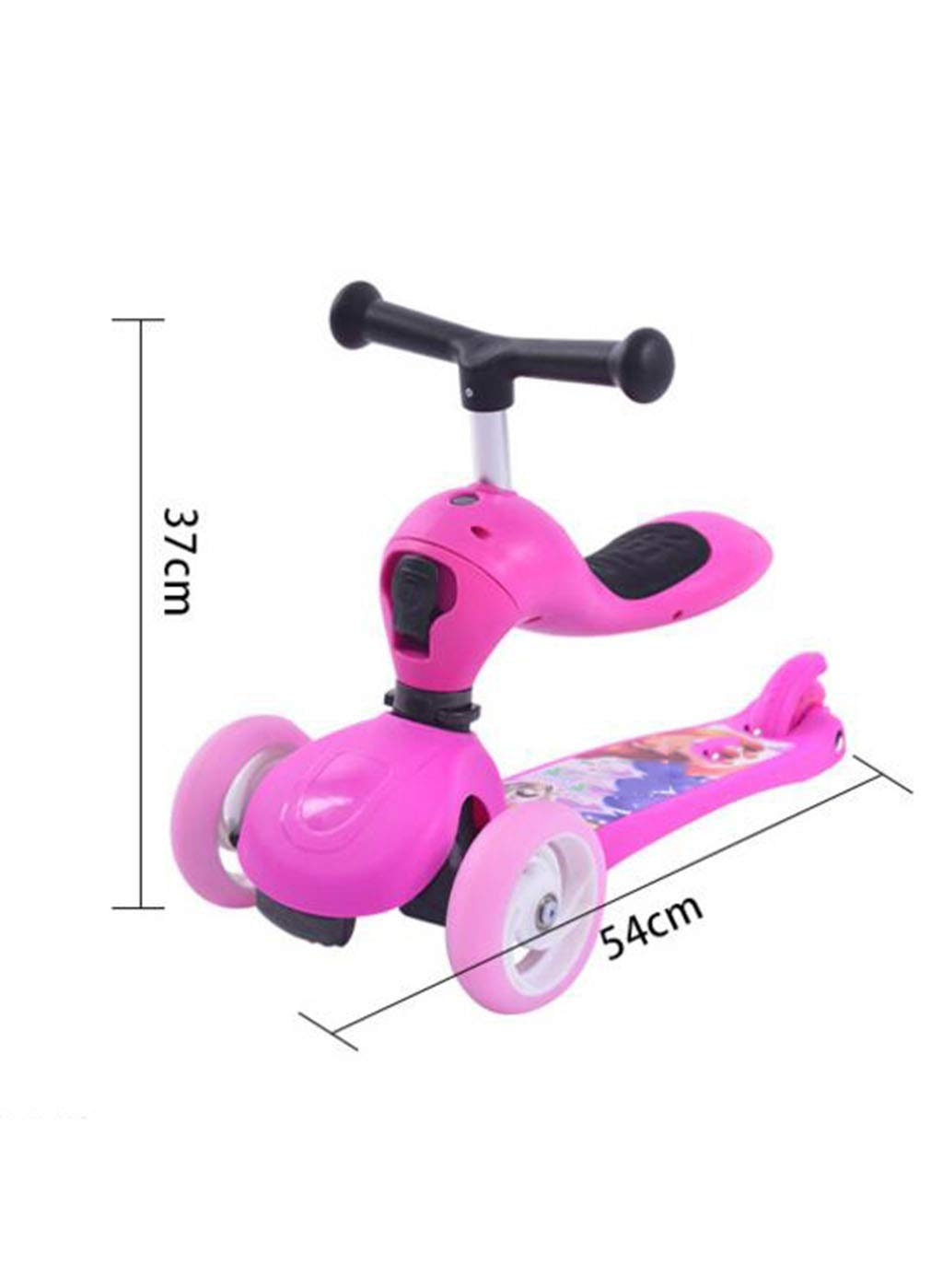 Children's scooter kick scooter children's kids 3 wheel scooter, 3 in 1 super wide wheel kids scooter with detachable seat, adjustable height handle, scooter children boys and girls 1 or more children by JBHURF (Image #3)