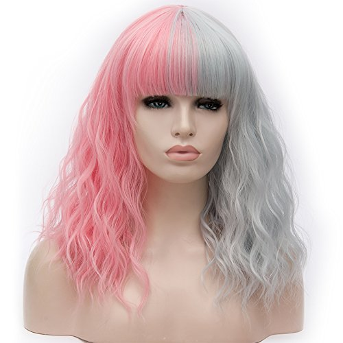Amback Mid Length Wigs Hair 2 Tones Mixed