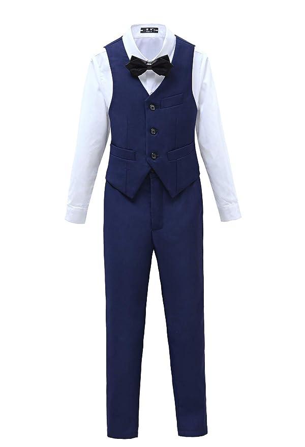 Amazon.com: Yuanlu 5 piezas Boys primera trajes esmoquin ...