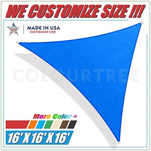 ColourTree 16' x 16' x 16' Blue Sun Shade Sail