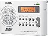 Sangean Weather Alert Portable Digital AM/FM Radio with Built-in Speaker Plus 6ft Aux Cable to Connect Any Ipod, Iphone or Mp3 Digital Audio Player