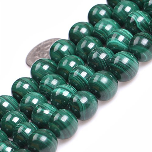 Malachite Beads for Jewelry Making Natural Gemstone Semi Precious 11mm Round AAA Grade Green 15