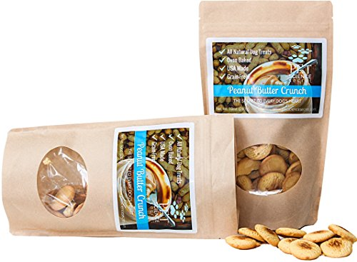 Peanut Butter Crunch Dog Treats | 100% All Natural & Healthy, Hypoallergenic | Grain, Gluten & Chemical Free, No Preservatives | Antioxidants | Hand-Crafted by the Batch | Made in USA, 10 oz. by Pet Science Secret